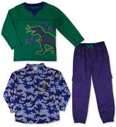 Nannette 3-Pc. Printed Shirt, T-Shirt & Cargo Pants Set, Toddler Boys