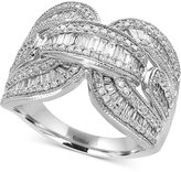 Effy Classique by Diamond Baguette Ring (1-1/8 ct. t.w.) in 14k White Gold