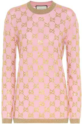 Gucci GG crystal-embellished wool sweater