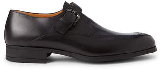 a. testoni A.Testoni Black Leather Monk Strap Shoes
