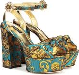 Dolce & Gabbana Jacquard platform sandals