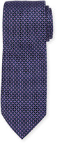 Neiman Marcus Boxed Dot-Print Silk Tie, Purple