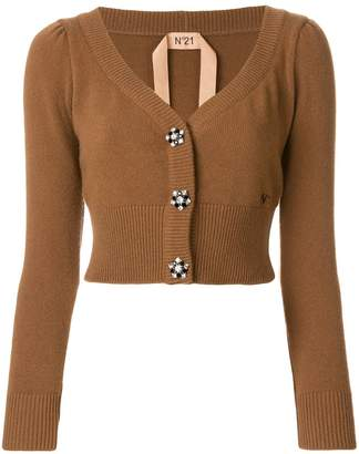 No.21 cropped embellished button cardigan