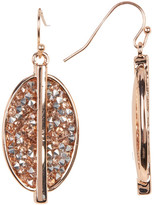 Kenneth Cole New York Pave Oval Drop Earrings