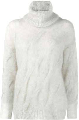 Nude Loose-Fit Roll-Neck Jumper