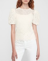 Express Lace Puff Sleeve Tee