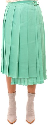 Fendi Gonna Pleated Asymmetric Skirt