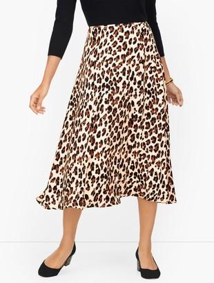 Talbots Midi Skirt - Leopard Print