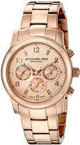 Stuhrling Original Women's 796B.03 Vogue Aruba Analog Display Swiss Quartz Rose Gold-Plated Watch