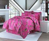 Realtree Hot Pink Queen Comforter Set with Shams and Bedskirt
