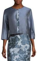 Max Mara Ozioso Cropped Cotton & Silk Jacket