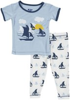 Kickee Pants Print Pajama Set (Baby)-Flamingo Umbrella-18-24 Months