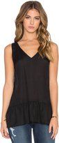 The Great The V-Neck Flounce Tank