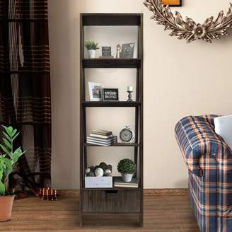 Latitude Run Ajani 4 Shelf Wooden Ladder Bookcase Latitude Run Color: Brown