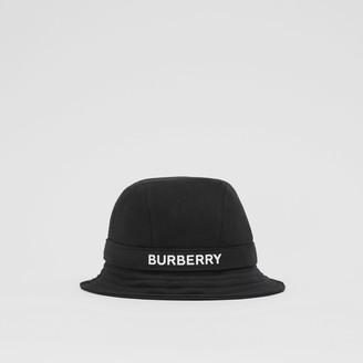 Burberry ogo Print Cotton Jersey Bucket Hat
