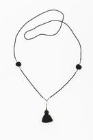 Crow Tassel And Pompom Necklace By Ild