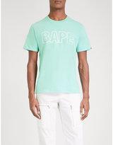 A Bathing Ape Mens Camo Small Iconic Logo-Print Cotton-Jersey T-Shirt