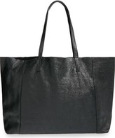 Street Level Slouchy Metallic Leather Tote