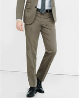 Express slim photographer cotton sateen light brown suit pant