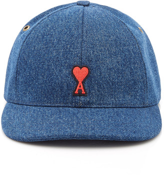 Ami Embroidered Denim Hat