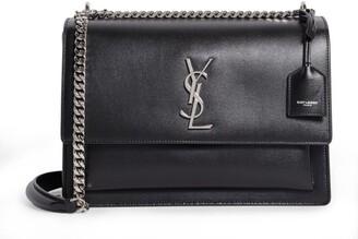 Saint Laurent Large Leather Sunset Shoulder Bag