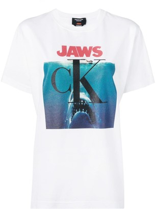 Calvin Klein Jaws logo T-shirt