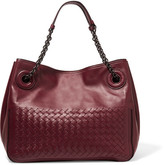 Bottega Veneta Intrecciato Leather Tote - Burgundy