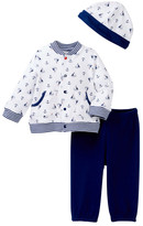Little Me Nautical Cardigan Set & Hat (Baby Boys)