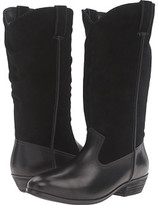 Black Suede Wide Calf Boots - ShopStyle