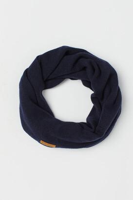H&M Merino Wool Tube Scarf - Blue