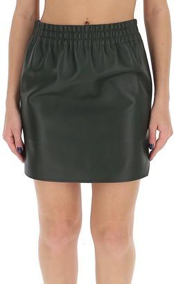 Bottega Veneta High Waisted Mini Leather Skirt