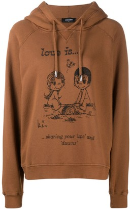 DSQUARED2 Love Is print hoodie