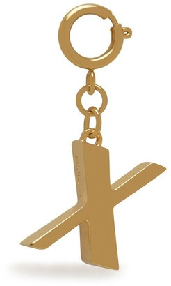Mulberry Alphabet Brass Keyring - X Gold Zinc
