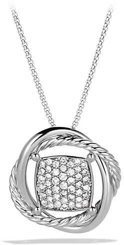 David Yurman 11mm Pave Diamond Infinity Necklace