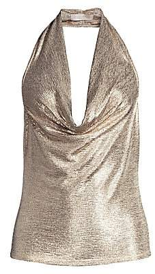 Ramy Brook Women's Dee Textured Metallic Halter Top