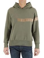 Malph Adhesive Tape Stripe Fleece Sweatshirt