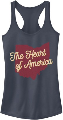Juniors' Fifth Sun The Heart Of America State Graphic Tank