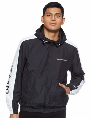 Calvin Klein Jeans Men's Statement Logo Windbreaker Rain Jacket