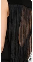 Tibi Fringe Open Back Sleeveless Top