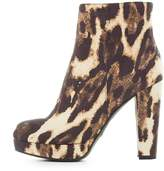 Charlotte Russe Bamboo Leopard Platform Booties