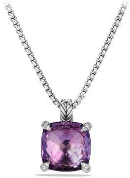 David Yurman Châtelaine® Pendant Necklace With Amethyst And Diamonds,