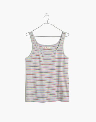 Madewell Square-Neck Tank Top in Stripe