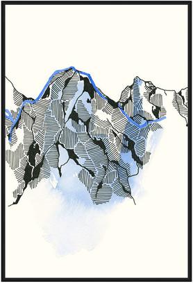Jonathan Bass Studio Mountain Abstract 4, Decorative Framed Hand Embell