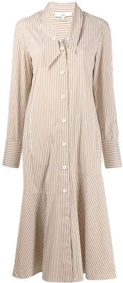 Tibi Kaia stripe flared shirt dress
