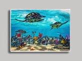 Sea Turtle Reef Refrigerator Magnet