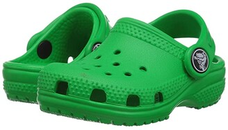 Crocs Classic Clog (Toddler/Little Kid/Big Kid) (Grass Green) Kids Shoes