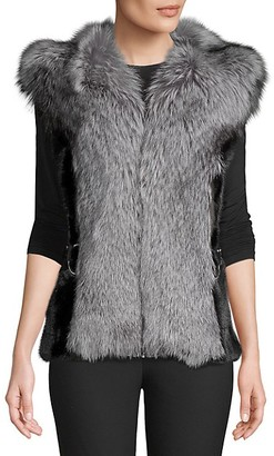 Wolfie Fur Made For Generation Dyed Mink and Fox Fur Vest