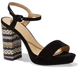 New York & Co. Embroidered Platform Sandal