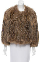 Yves Salomon Knitted Fur Jacket