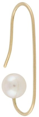 HSU JEWELLERY LONDON 18kt yellow gold Making Marks drawing line pearl hoop earring